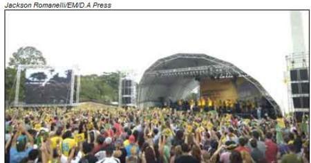 Show do Pato Fu na Pampulha para celebrar a escolha de Belo Horizonte